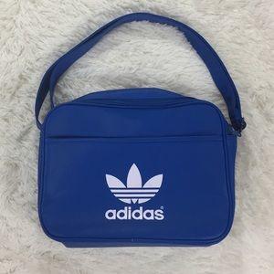 Adidas blue airline shoulder gym bag